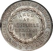 Dollar - Buncombe County Centennial (Asheville, North Carolina) – reverse