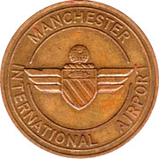 Token - Manchester International Airport (Terraces and Piers) – reverse