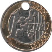 Shopping Cart Token - Crédit Agricole (1 Euro) – reverse