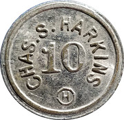 10 Cents - Chas. S. Harkins – obverse