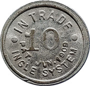 10 Cents - Chas. S. Harkins – reverse