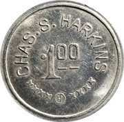 1 Dollar - Chas. S. Harkins – obverse