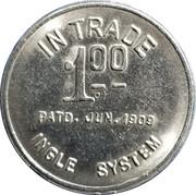 1 Dollar - Chas. S. Harkins – reverse