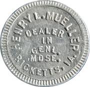10 Cents - Henry L. Mueller – obverse