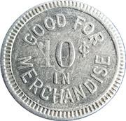 10 Cents - Henry L. Mueller – reverse