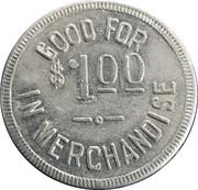 1 Dollar - Henry L. Mueller – reverse