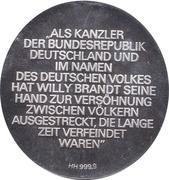 Token - Bundeskanzler Willy Brandt – reverse