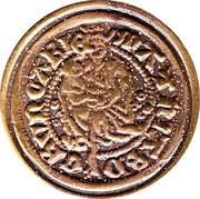 Replica - Gold coin Matias Corvin – reverse