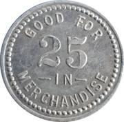 25 Cents - St. Paul Mercantile – reverse