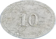 10 Cents - Asbury & Walters – reverse