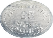 25 Cents - Asbury & Walters – obverse