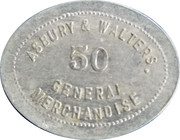 50 Cents - Asbury & Walters – obverse