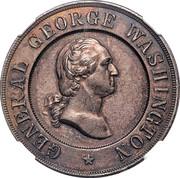 Dollar - George Washington Monument Dedication (Allegheny, Pennsylvania) – reverse