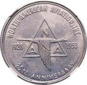So-called-dollar - 25th Anniversary North American Aviation (Type I) – obverse