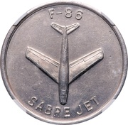 So-called-dollar - 25th Anniversary North American Aviation (Type I) – reverse