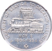 So-called-dollar - Wabash Railroad Centennial (Decatur, Illinois) – obverse