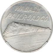So-called-dollar - Wabash Railroad Centennial (Decatur, Illinois) – reverse