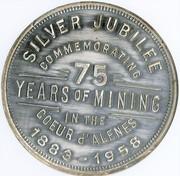 So-called-dollar - Coeur d'Alene Idaho Silver Jubilee (Wallace, ID) – reverse