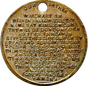 "Medallion - The ""Lord's Prayer"" – reverse"