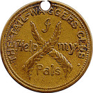 """Token - The """"Tail-Waggers"""" Club – obverse"""