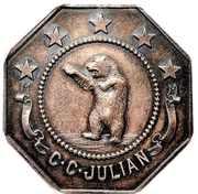 Medal - New Monte Cristo Mining Company (Wickenburg, Arizona) – obverse