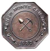 Medal - New Monte Cristo Mining Company (Wickenburg, Arizona) – reverse