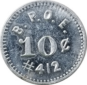 10 Cents - B.P.O.E. – obverse
