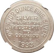 Dollar - Colorado Century of Progress (Type I) – reverse