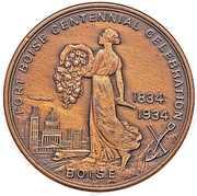 Dollar - Fort Boise Idaho Centennial – obverse
