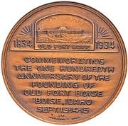 Dollar - Fort Boise Idaho Centennial – reverse