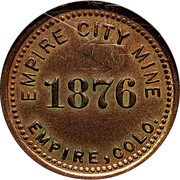 2 ½ Dollars - Colorado Gold - Empire City Mine (Empire, CO) – obverse