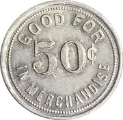 50 Cents - Schacher Mercantile Co. – reverse