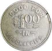 1 Dollar - Schacher Mercantile Co. – reverse