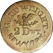 2 Dwt - Civil War Token (Silver Mine Gold Weight Muling) – reverse