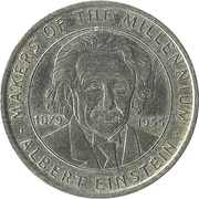 Token - Sainsbury's Makers of the Millennium (Albert Einstein) – obverse