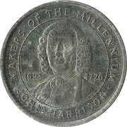 Token - Sainsbury's Makers of the Millennium (John Harrison) – obverse
