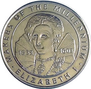 Token - Sainsbury's Makers of the Millennium (Elizabeth I) – obverse