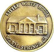Token - Franklin Delano Roosevelt (Little White House) – reverse