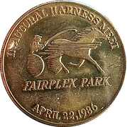 Token - Fairplex Park Inaugural Harness Meet – obverse