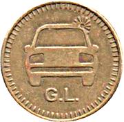 Car Wash Token - G.L. – obverse