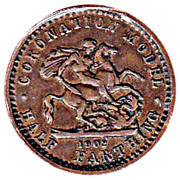½ Farthing - Edward VII (Coronation Model) – reverse