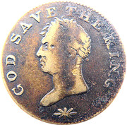 God Save the King token – obverse