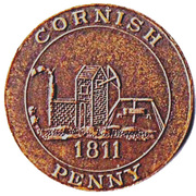 1 Cornish Penny (Modern Imitation) – obverse