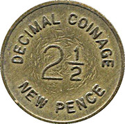 2½ New Pence / 6 Pence - Bell-Fruit Token (Decimal coinage) – obverse