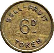 6 Pence - Bell Fruit Token – obverse
