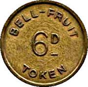 6 Pence - Bell Fruit Token – reverse
