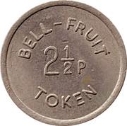 2½ Pence / 6 Pence - Bell-Fruit Token – obverse