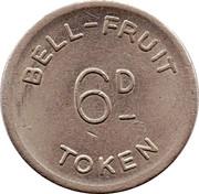 2½ Pence / 6 Pence - Bell-Fruit Token – reverse