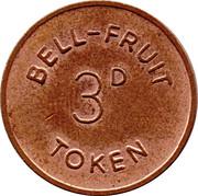 3 Pence - Bell-Fruit Token – obverse