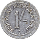 1 Shilling (Play purposes only) – obverse